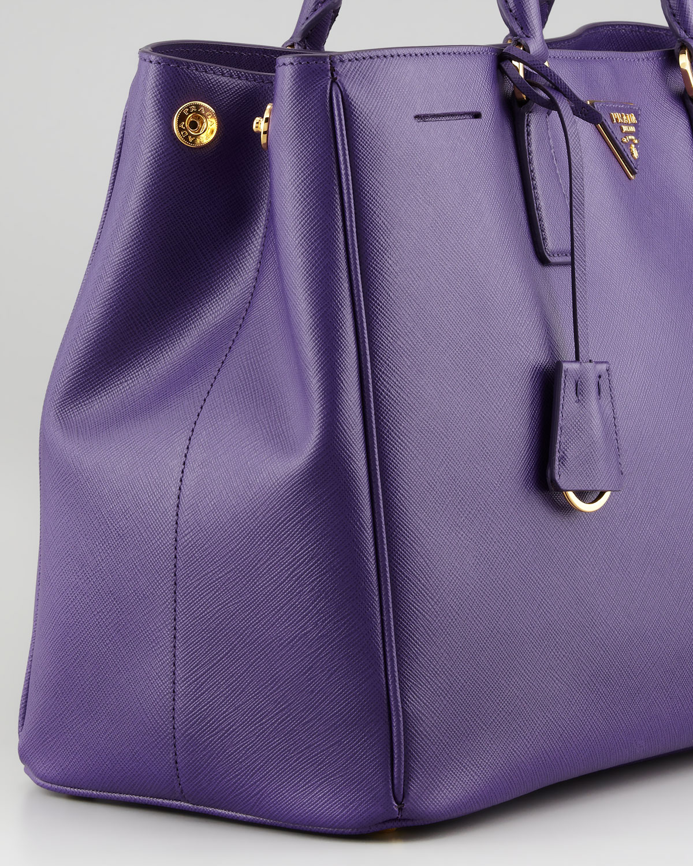 c62a118b6f ... shopping prada saffiano gardners tote bag purple in purple lyst 7026c  91812