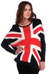 Torn By Ronny Kobo Anthea Union Jack Sweater in Blue (navy) - Lyst
