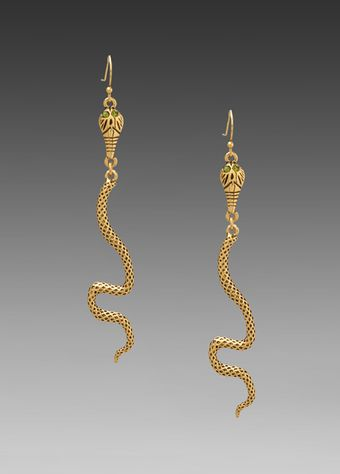 Trina Turk Snake Earring in Antique Gold - Lyst