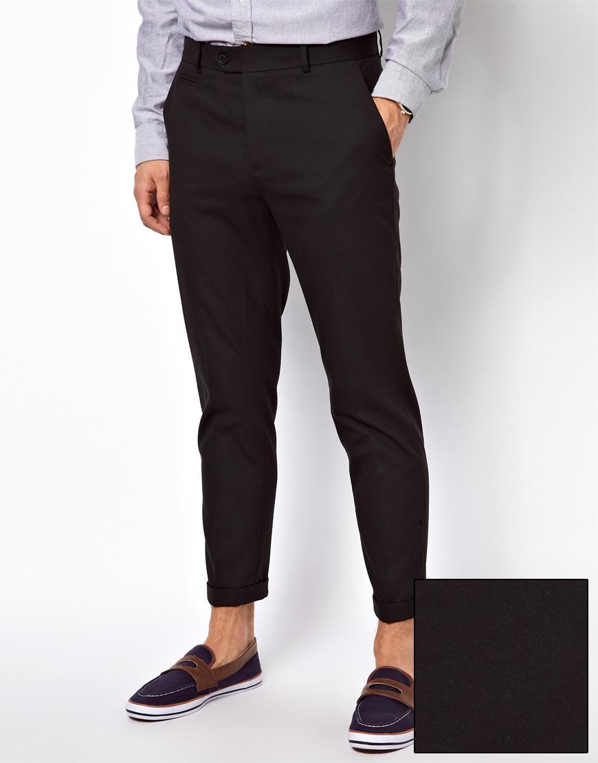 Wesc Asos Skinny Fit Ankle Grazer Pants In Black For Men - Lyst