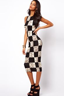 ASOS Collection Midi Bodycon Dress in Python Print - Lyst