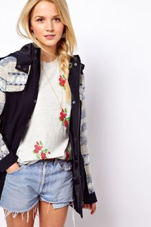 ASOS Collection Premium Jacquard Parka - Lyst