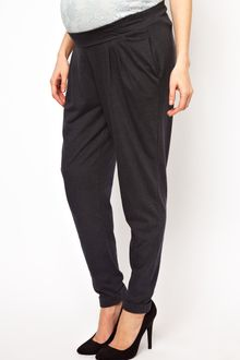 Asos Maternity Peg Trouser in Grey Marl - Lyst