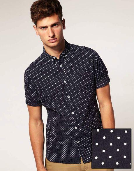G Star Raw Asos Shirt In Short Sleeve With Polka Dot Print