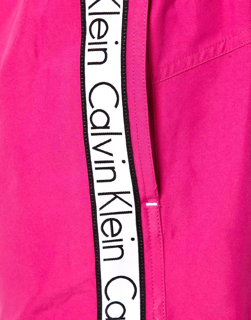 48d19661c9 Calvin Klein Logo Tape Swim Shorts in Pink for Men - Lyst
