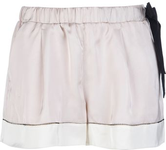Forte Forte Bow Detailed Shorts - Lyst