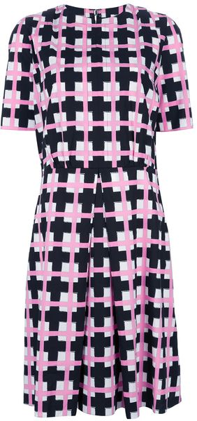Marni Geometric Pleat Dress - Lyst