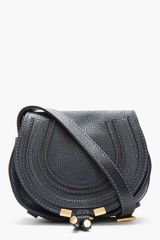 Chloé Small Black Marcie Shoulder Bag - Lyst
