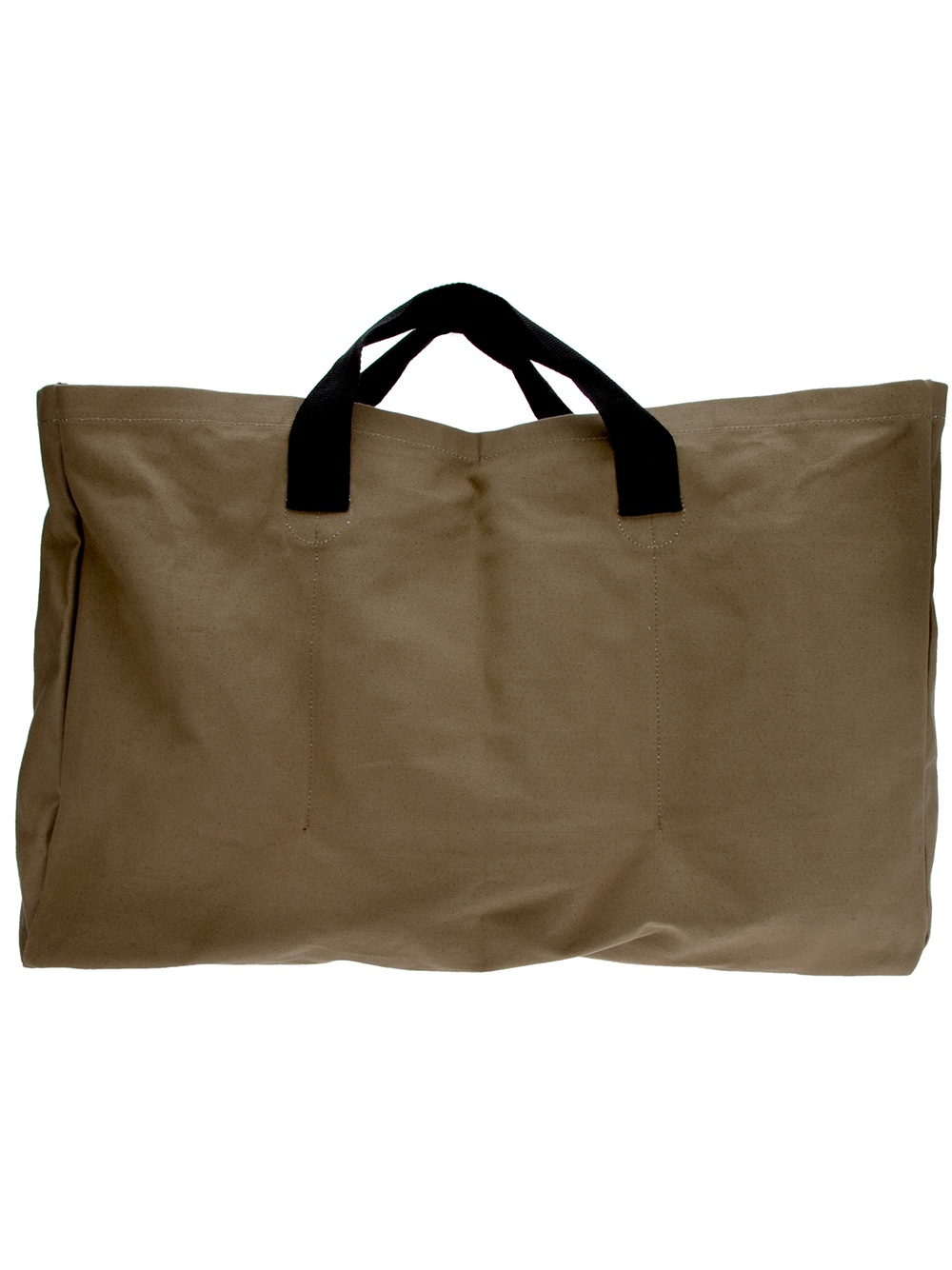 Comme des garçons Large Canvas Tote in Brown for Men | Lyst