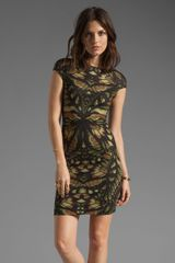 McQ by Alexander McQueen Cap Sleeve Dress in Camouflage - Lyst