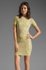 McQ by Alexander McQueen Butterfly Jacquard Dress in Nude-Yellow - Lyst