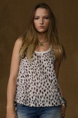 Ralph Lauren Animal-Print Cotton Tank - Lyst