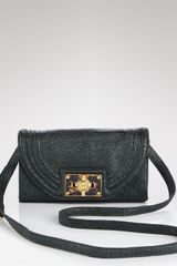 Tory Burch Clutch Tortoise Logo Stingray - Lyst