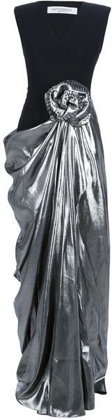 Viktor & Rolf Contrast Draped Skirt Dress - Lyst