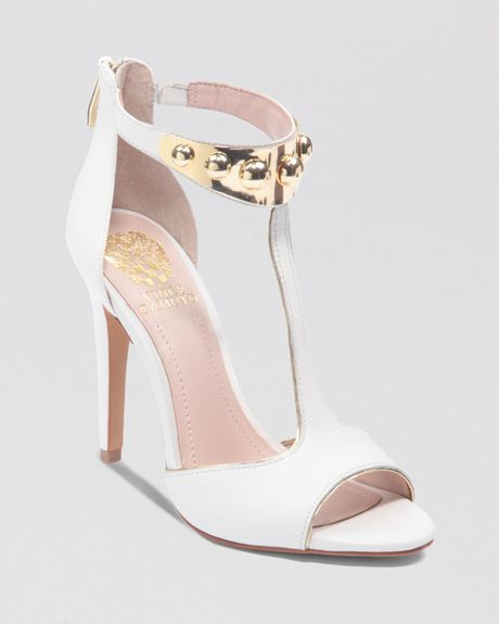 vince camuto sandals kelva high heel in white white gold