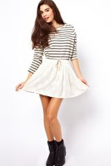 ASOS Collection Skater Skirt in Cotton Lace - Lyst