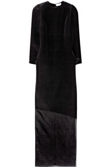 Barbara Casasola Long Sleeve Silk Cady Column Dress - Lyst