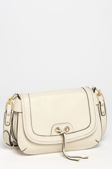 Perlina Simone Leather Hobo in Beige (dove) | Lyst