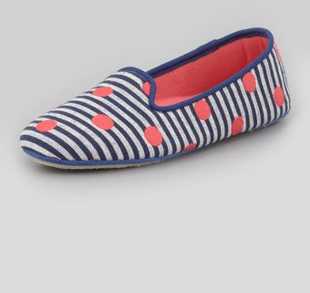 Acorn Dot Embroidered Smoking Slipper - Lyst