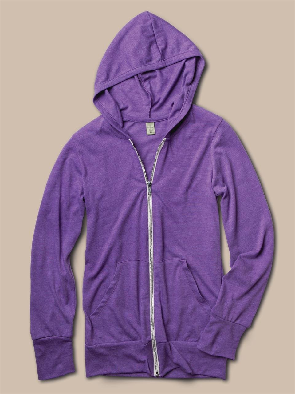 Alternative apparel Mens Ecoheather Zip Hoodie in Purple for Men ...