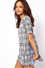 ASOS Collection T-Shirt with Aztec Print - Lyst
