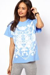 ASOS Collection Asos T-shirt with Ornate Puff Print - Lyst