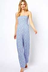 ASOS Collection Floral Bandeau Harem Jumpsuit - Lyst