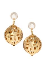 ASOS Collection Asos Filigree Ball Drop Earrings - Lyst