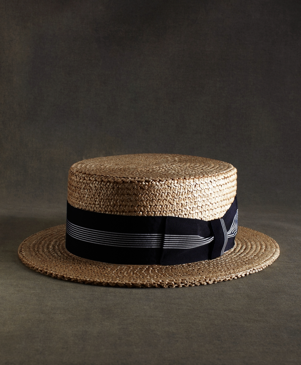 Lyst - Brooks Brothers The Great Gatsby Collection Straw Boater Hat ... ff6868a49d4