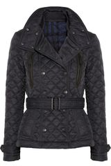 Burberry Brit Hooded Quilted Shell Jacket - Lyst
