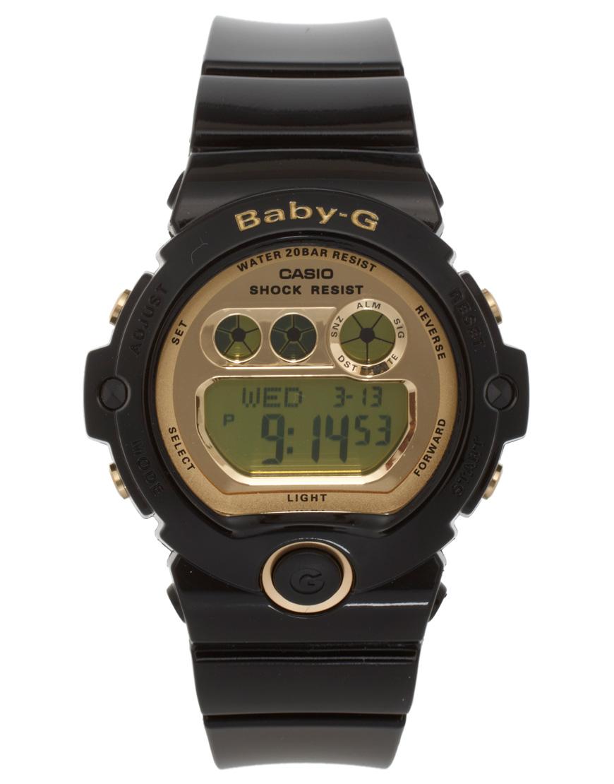 g shock g shock baby g black digital watch in black lyst. Black Bedroom Furniture Sets. Home Design Ideas