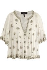 Isabel Marant Piper Beaded Blouse - Lyst
