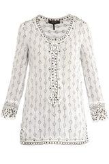 Isabel Marant Alicia Lace-Up Front Blouse - Lyst