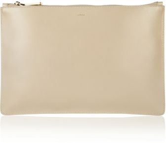 Jil Sander Fine Envelope Leather Clutch - Lyst