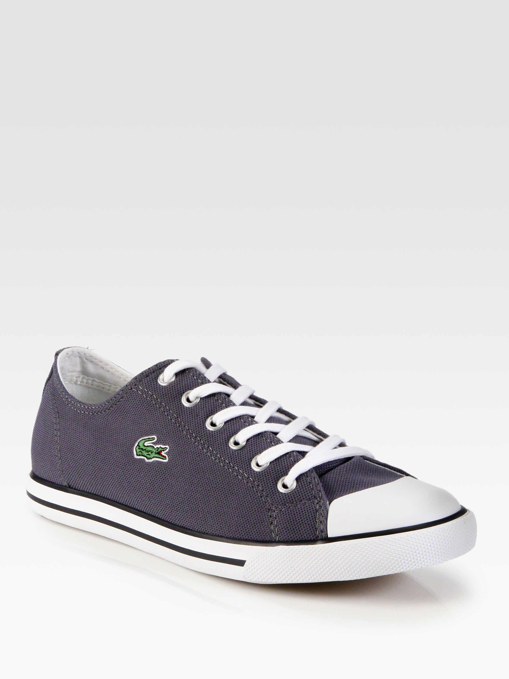 lyst lacoste casual sneakers in gray for men