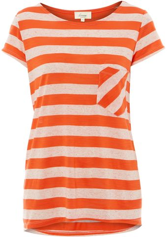Linea Weekend Ladies Short Sleeved Tonal Stripe T Shirt - Lyst