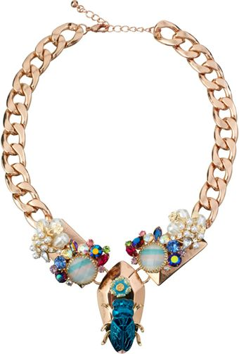 ASOS Collection Asos Floral Bug Necklace - Lyst