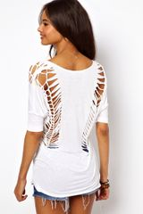 ASOS Collection Asos Tshirt with V Neck and Cut Out Detail - Lyst