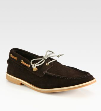 Boss Orange Cobrion Suede Boat Shoes - Lyst