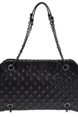 Bottega Veneta Leather Stud Duo Bag - Lyst