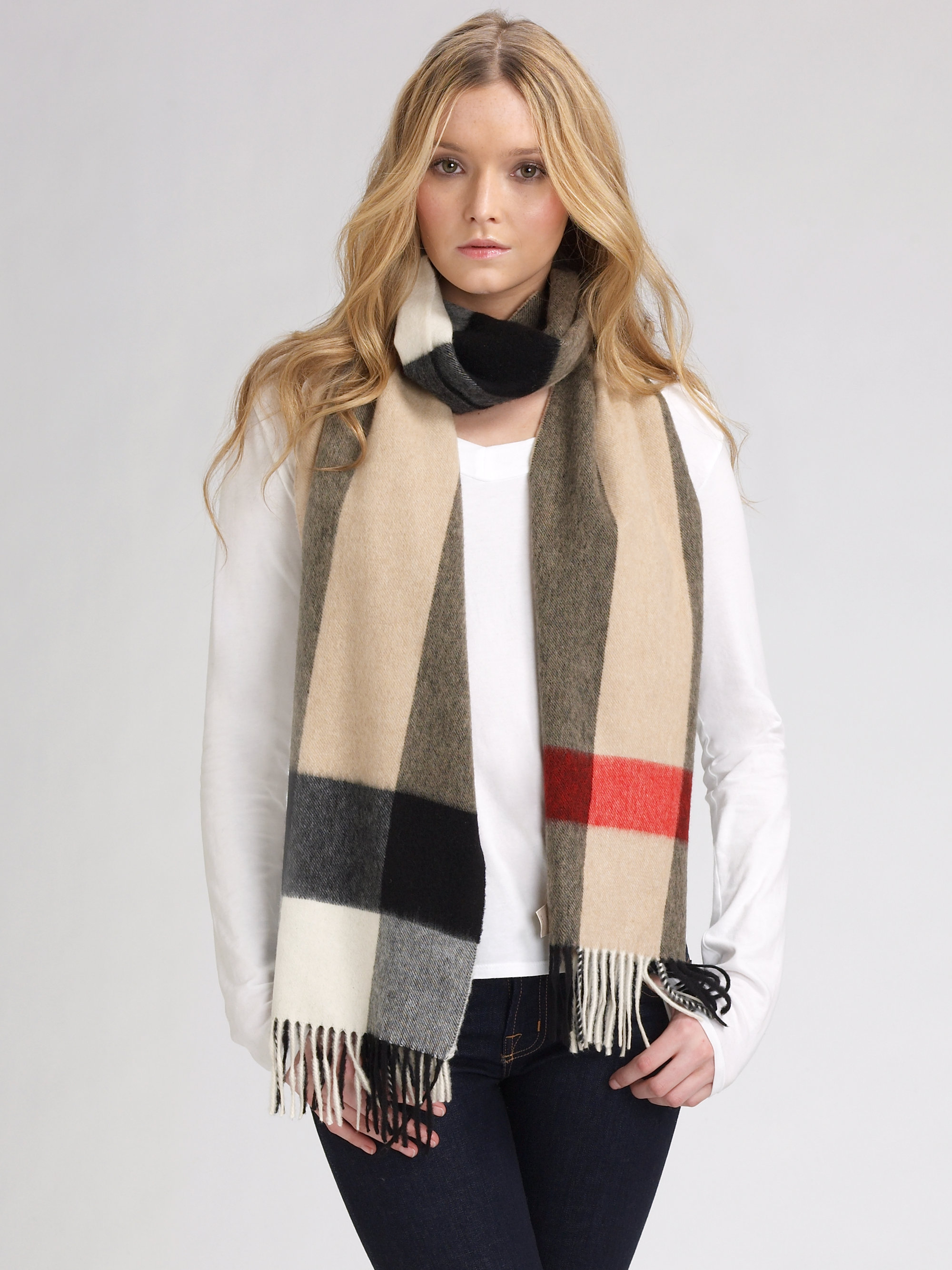 burberry mega check scarf lyst
