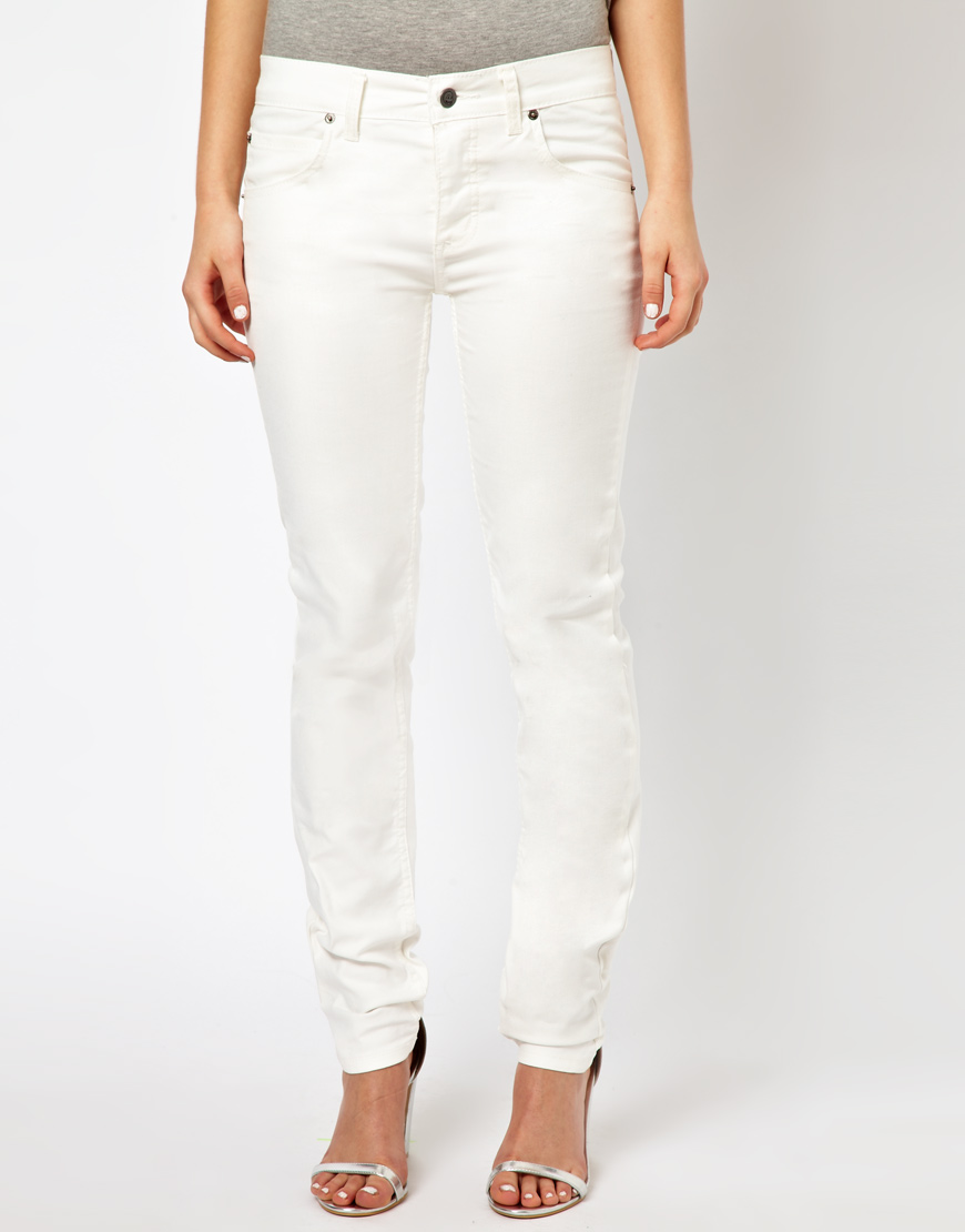 Cheap monday Narrow Flashing White in White | Lyst