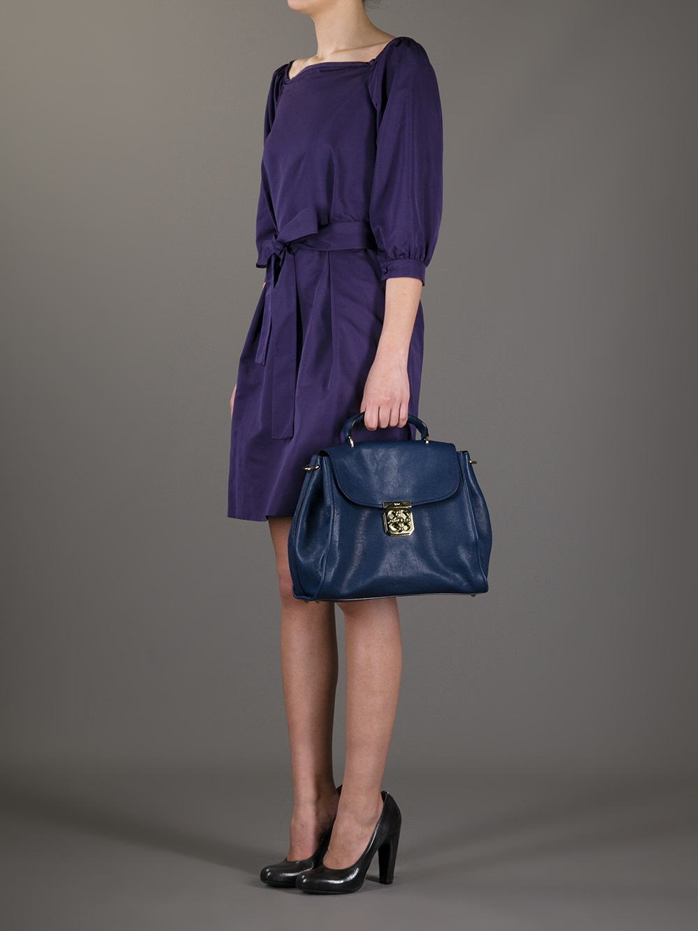 a2e4f431abb Chlo¨¦ Elsie Satchel Bag in Blue