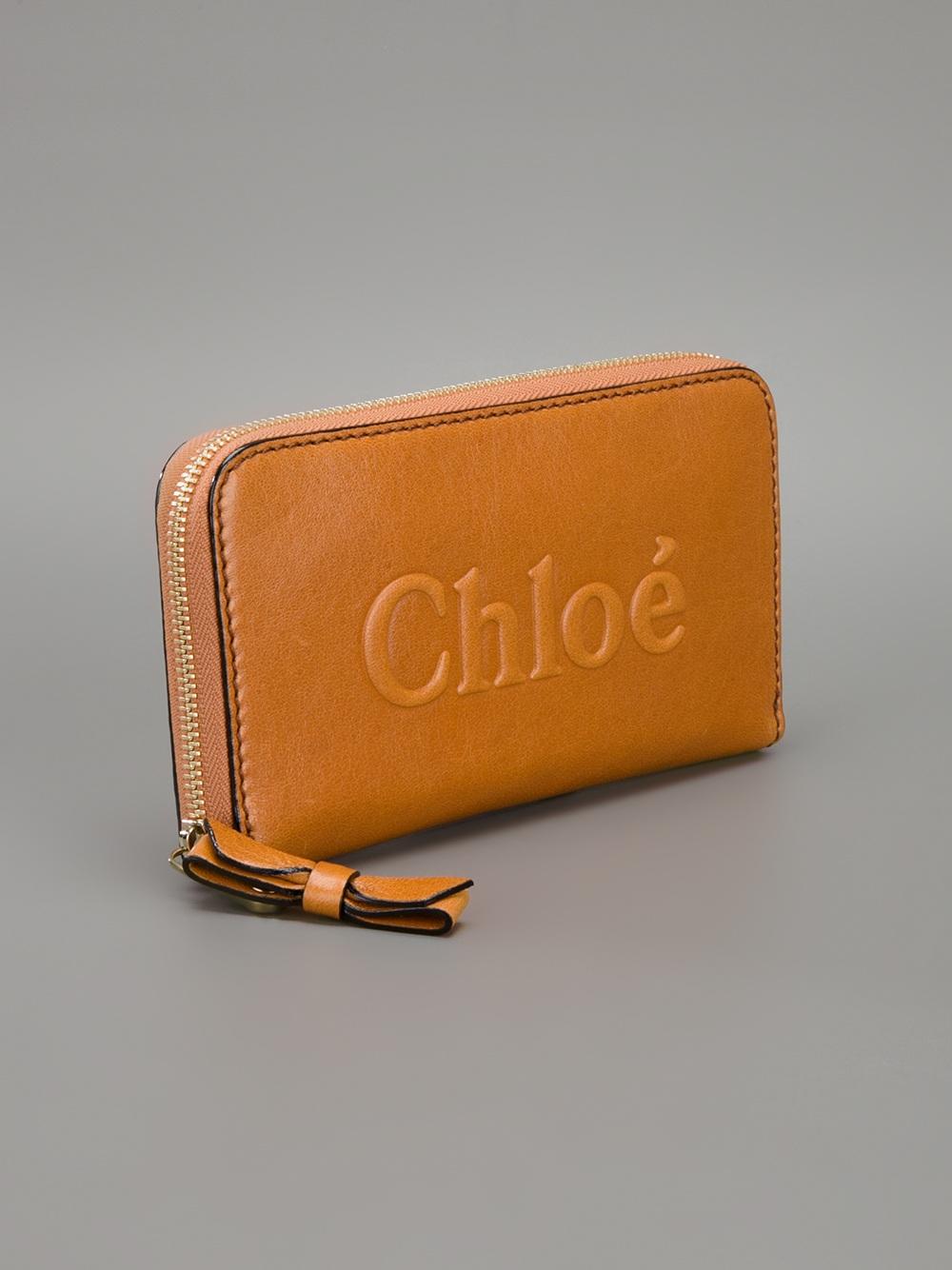 Lyst Chlo 233 Brand Embossed Purse In Brown