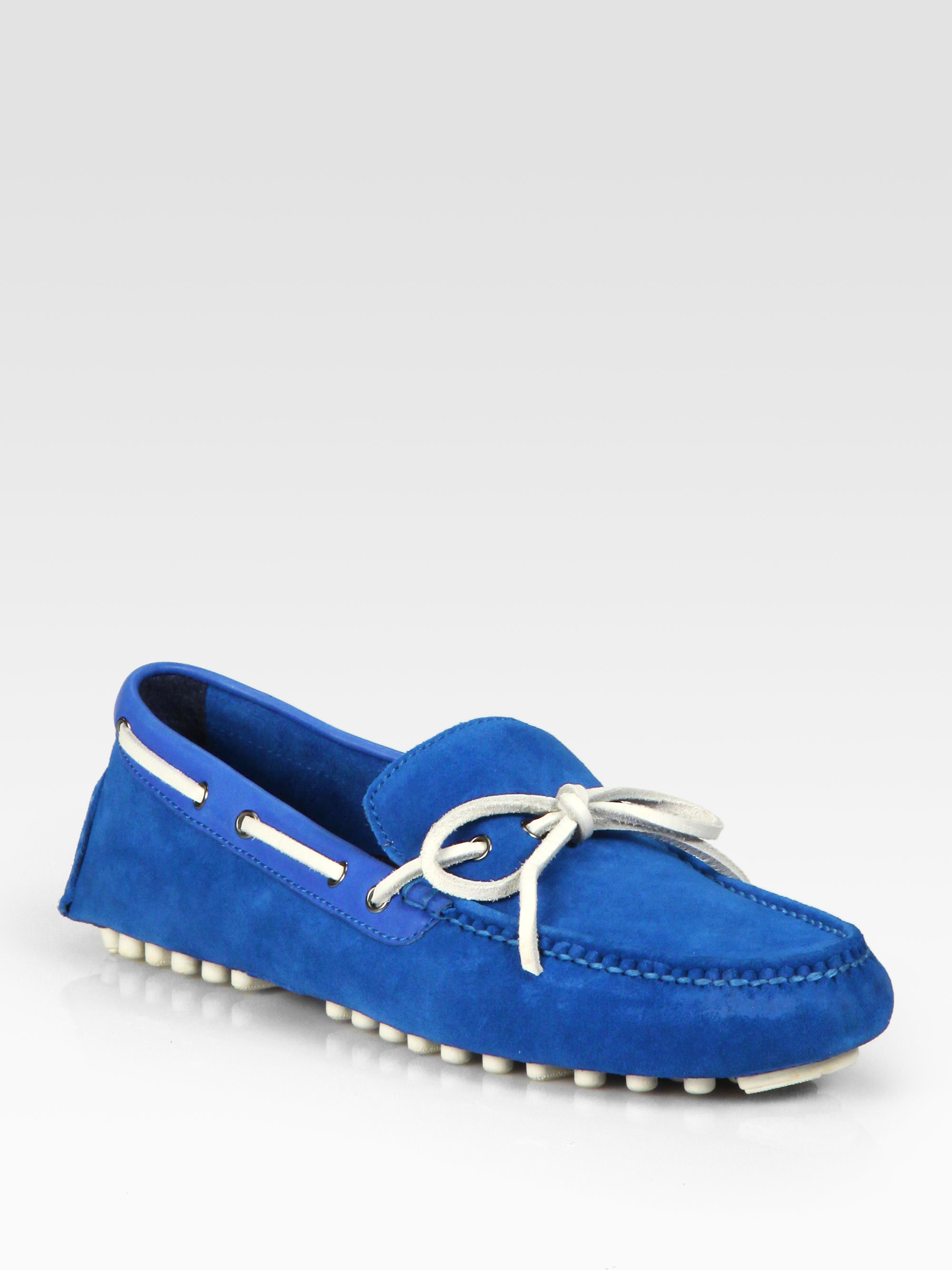 9b7bf401b33b76 Lyst - Cole Haan Air Grant Driving Moccasins in Blue for Men
