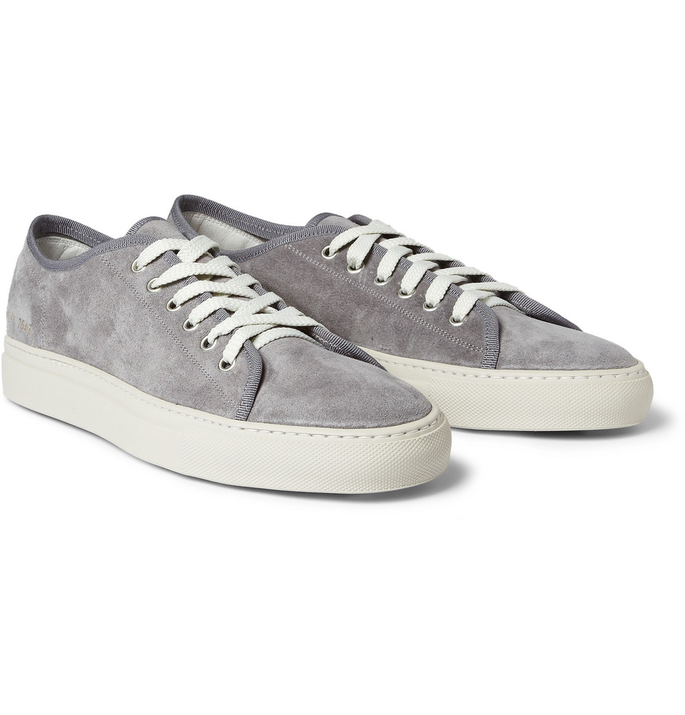 24a9c680686c Common Projects Tournament Suede Sneakers in Gray for Men - Lyst