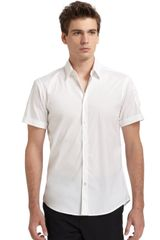 Costume National Short Sleeve Pocket Buttondown Shirt - Lyst