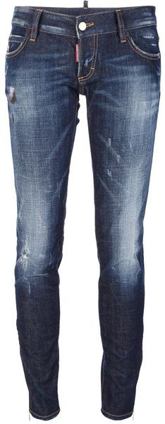 DSquared2 Distressed Jean - Lyst