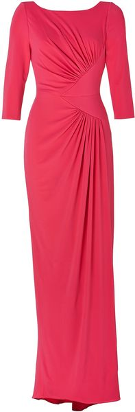 Elie Saab Draped Gown in Berry - Lyst