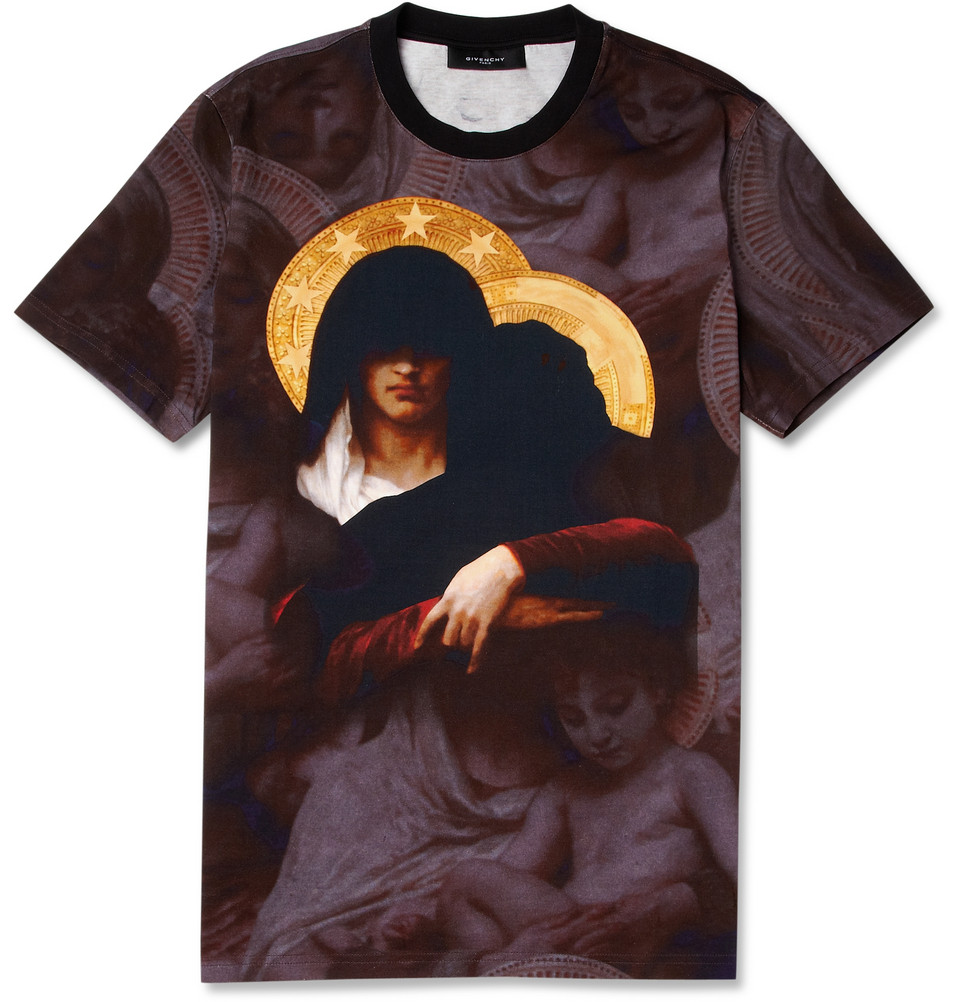 Givenchy Madonna Print Cotton Jersey T Shirt In Black For